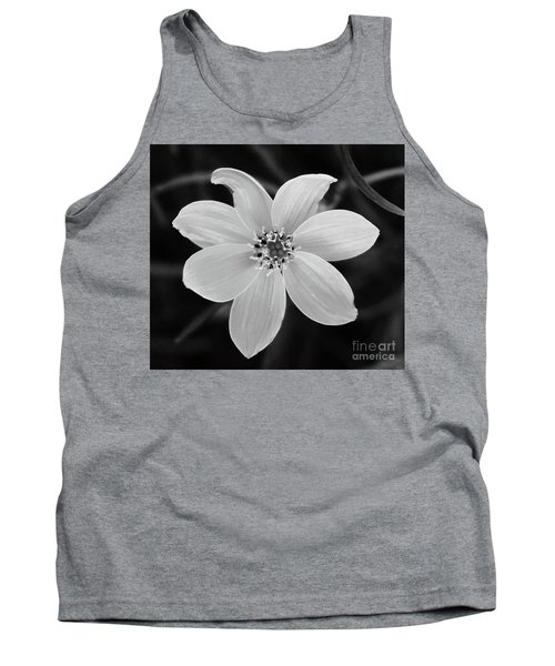 Threadleaf In Black And White Tank Top