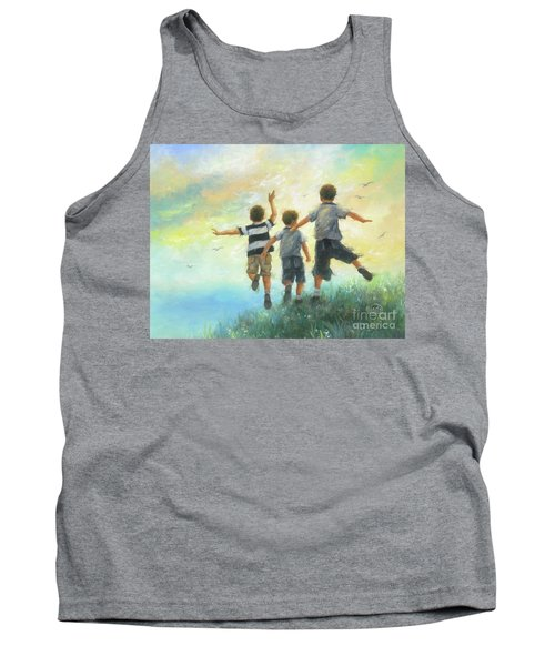 Three Brothers Leaping Tank Top