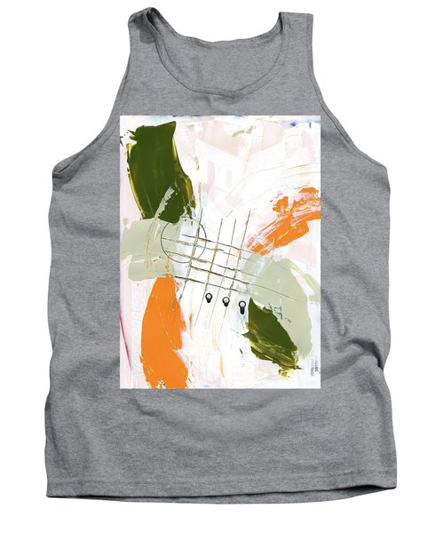 Tank Top featuring the painting Three Color Palette Orange 3 by Michal Mitak Mahgerefteh