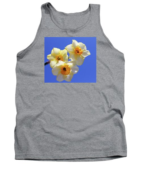 Tank Top featuring the photograph Three Daffodils by Judy Vincent
