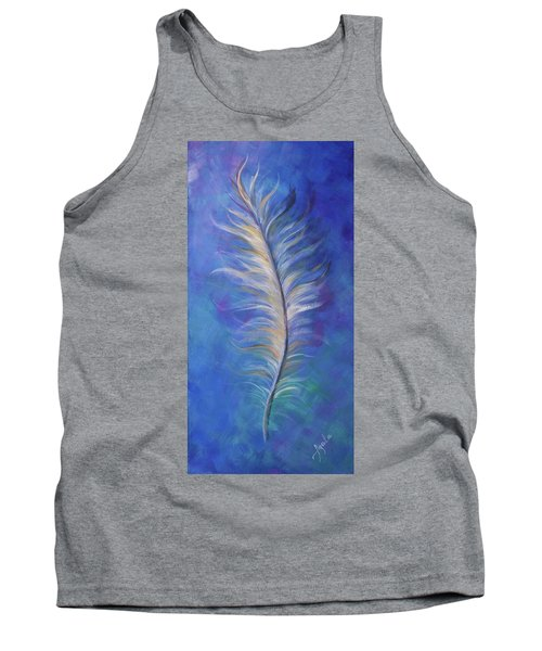 Three Feathers Triptych-right Panel Tank Top