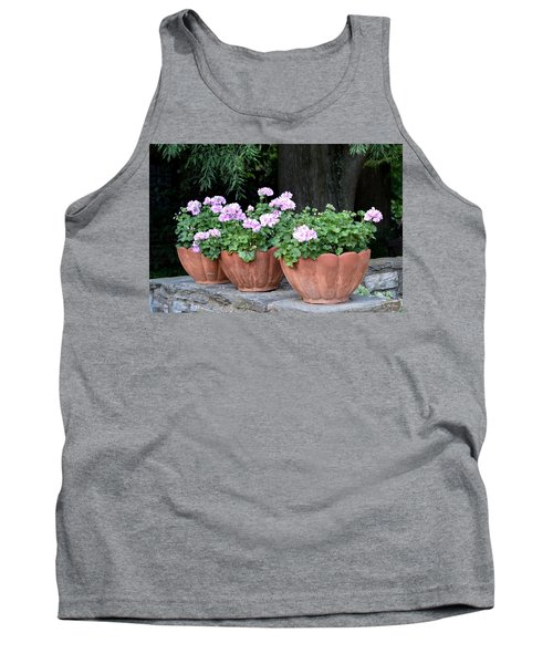 Tank Top featuring the photograph Three Flower Pots by Deborah  Crew-Johnson