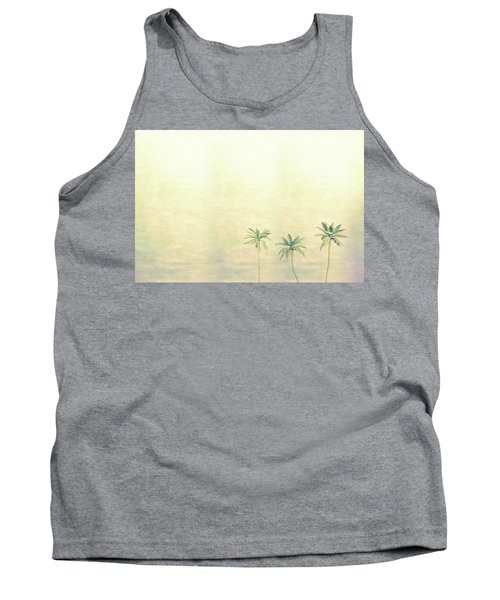 Three Palms In Color Tank Top