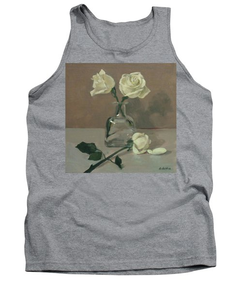 Three Roses In A Tequila Bottle Tank Top