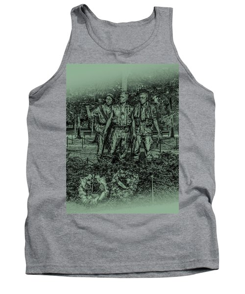 Tank Top featuring the photograph Three Soldiers Memorial by David Morefield
