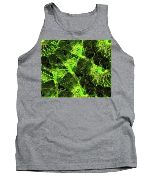 Tank Top featuring the digital art Threshed Green by Ron Bissett