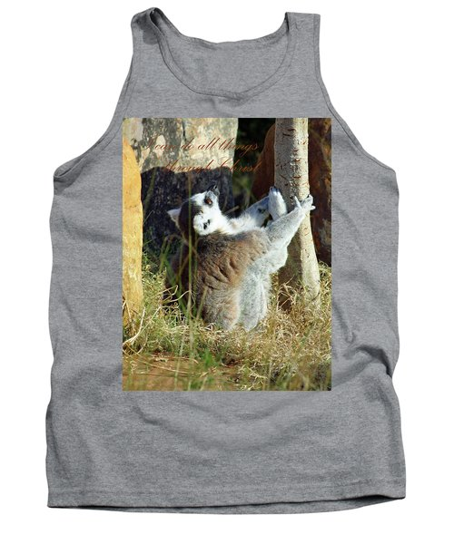 Through Christ Tank Top by Inspirational Photo Creations Audrey Woods