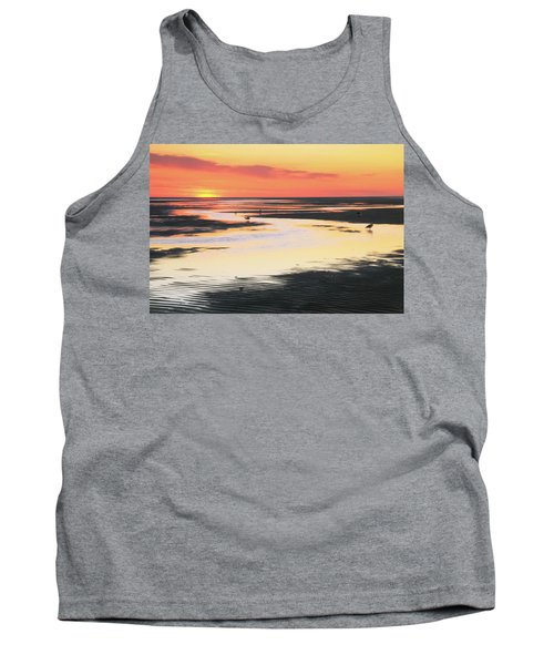 Tidal Flats At Sunset Tank Top by Roupen  Baker