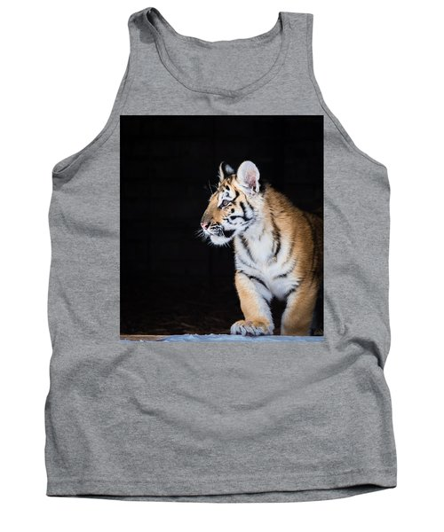 Tank Top featuring the photograph Tiger Cub by Serge Skiba