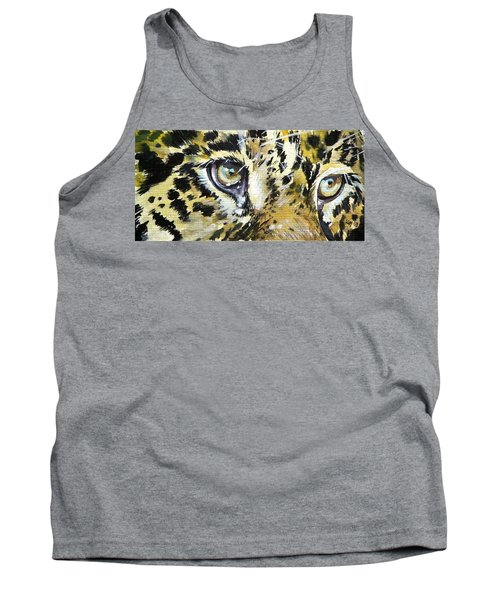 Tank Top featuring the painting Tiger Eyes by Kovacs Anna Brigitta