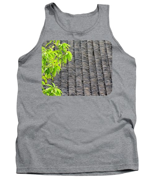 Tank Top featuring the photograph Tiled Roof by Ethna Gillespie