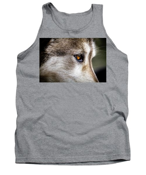 Tank Top featuring the photograph Timber Wolf Stare by Teri Virbickis