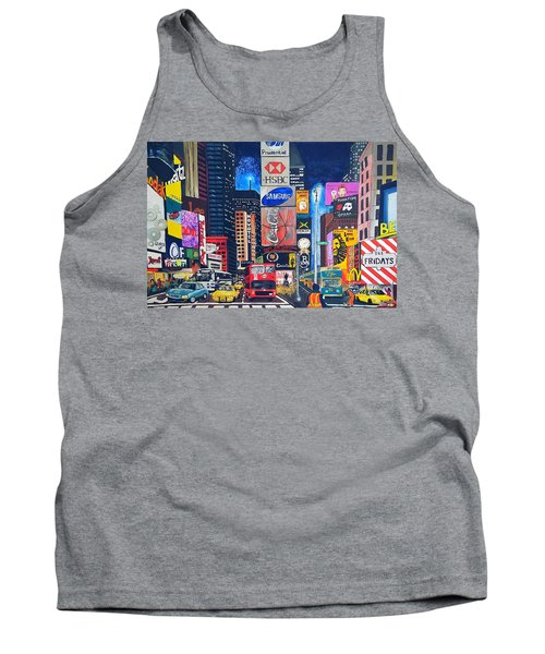 Times Square Tank Top by Autumn Leaves Art