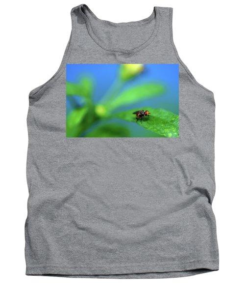 Tiny Fly On Leaf Tank Top