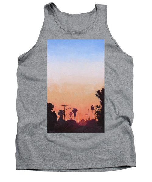 Tank Top featuring the painting Tonal Hollywood by Andrew Danielsen