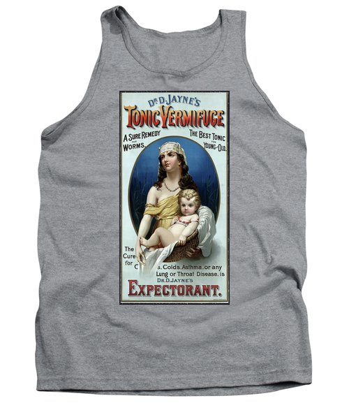 Tank Top featuring the photograph Tonic Vermifuge Patent Medicine 1889 by Daniel Hagerman