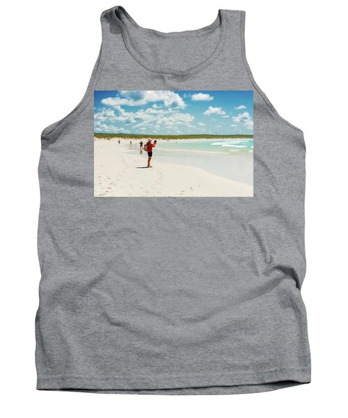 Tank Top featuring the photograph Tortuga Bay Beach At Santa Cruz Island In Galapagos  by Marek Poplawski