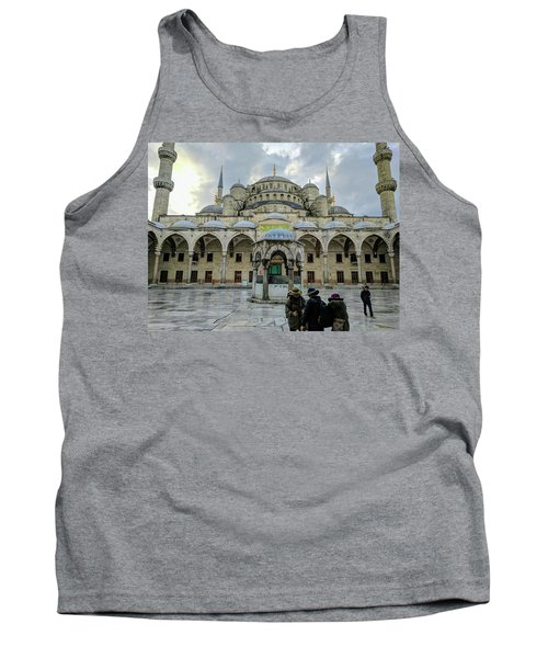 Tourists And The Blue Mosque Tank Top