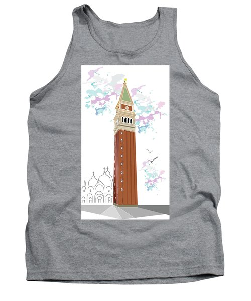 Tower Of Campanile In Venice Tank Top
