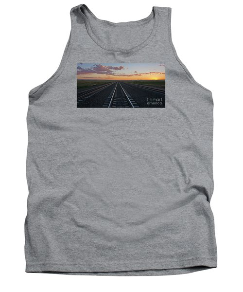 Tracks Into Sunset Tank Top
