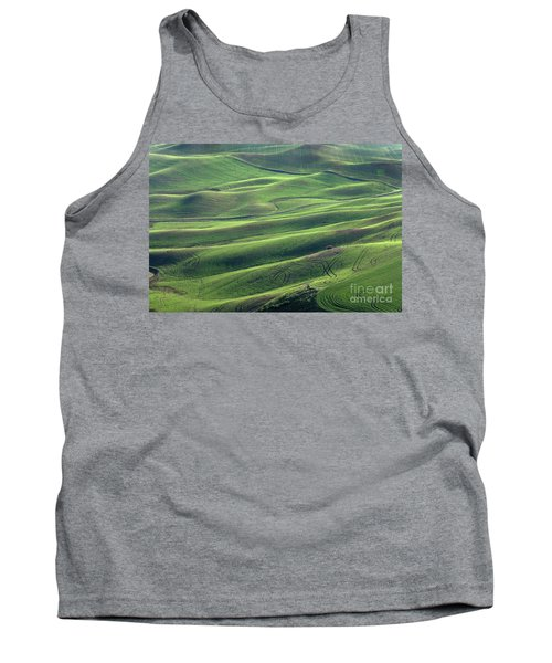 Tractor Tracks Agriculture Art By Kaylyn Franks Tank Top