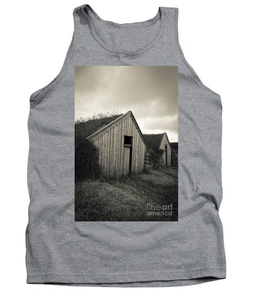 Tank Top featuring the photograph Traditional Turf Or Sod Barns Iceland by Edward Fielding