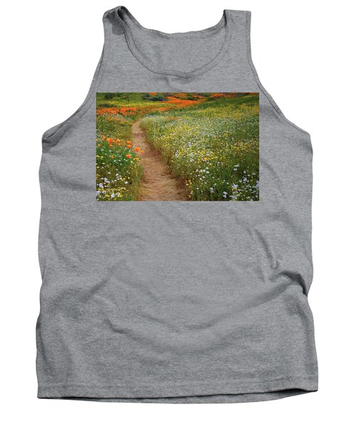 Tank Top featuring the photograph Trail Of Wildflowers At Diamond Lake In California by Jetson Nguyen