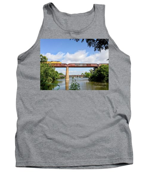 Train Across Lady Bird Lake Tank Top