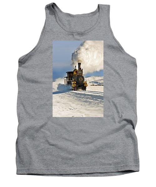Train In Winter Tank Top