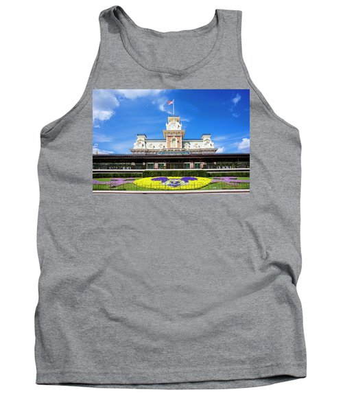 Tank Top featuring the photograph Train Station by Greg Fortier