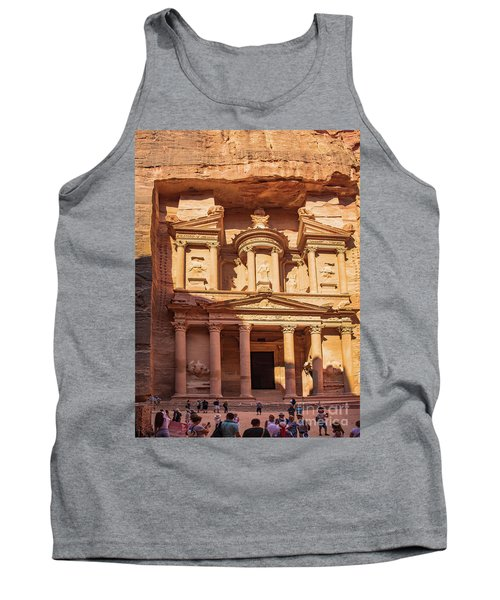 Tank Top featuring the photograph Treasury Of Petra In Color by Mae Wertz