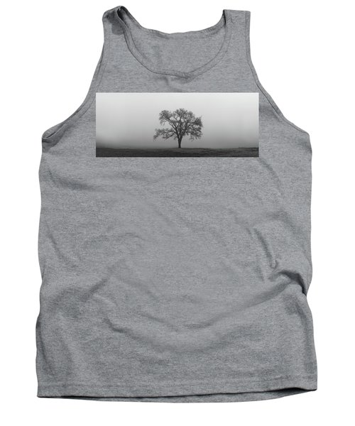 Tree Alone In The Fog Tank Top