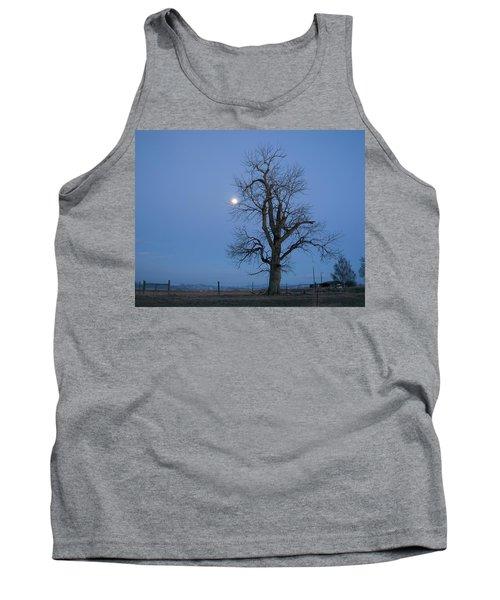 Tree And Moon Tank Top