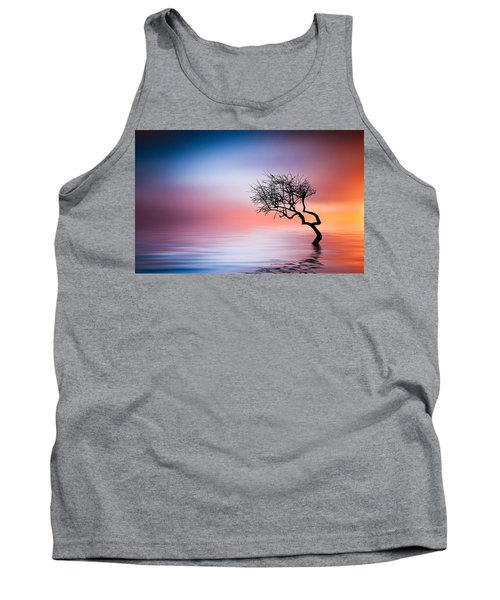 Tree At Lake Tank Top