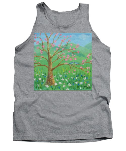 Tank Top featuring the painting Tree For Two by Nancy Nale