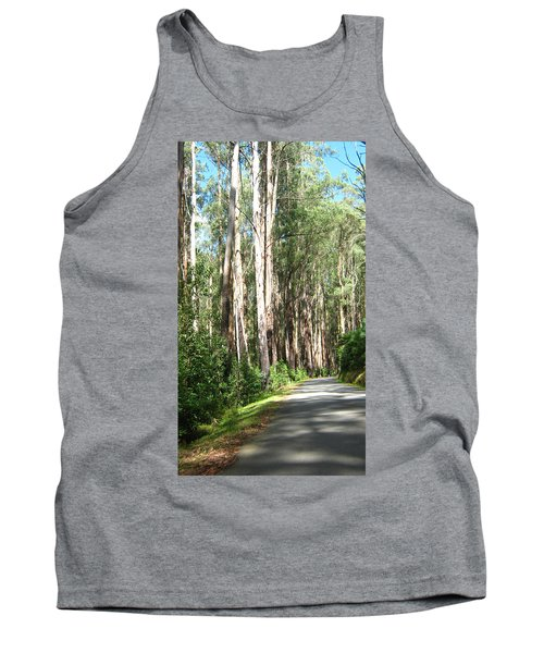 Tree Lined Mountain Road Tank Top