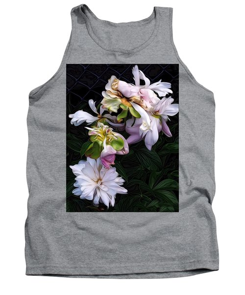 Tank Top featuring the digital art Tree Peony by Alexis Rotella