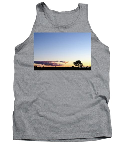Tree Silhouette By Twilight Tank Top