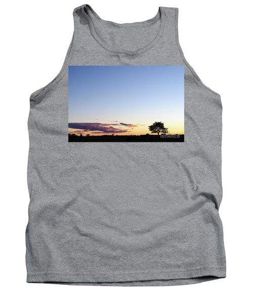 Tree Silhouette By Twilight Tank Top