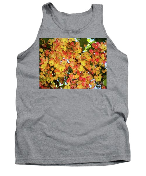 Trees And Flowers In Hawaii Tank Top