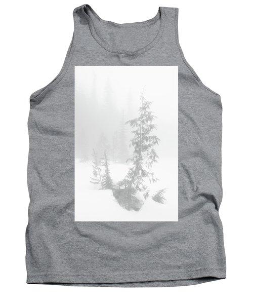 Trees In Fog Monochrome Tank Top
