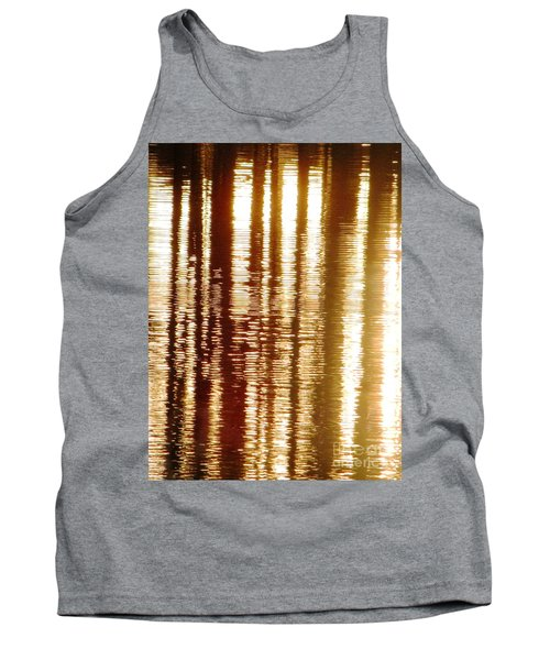 Trees On Rippled Water Tank Top by Melissa Stoudt