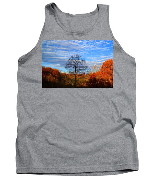 Tank Top featuring the photograph Treetops Sunrise by Kathryn Meyer