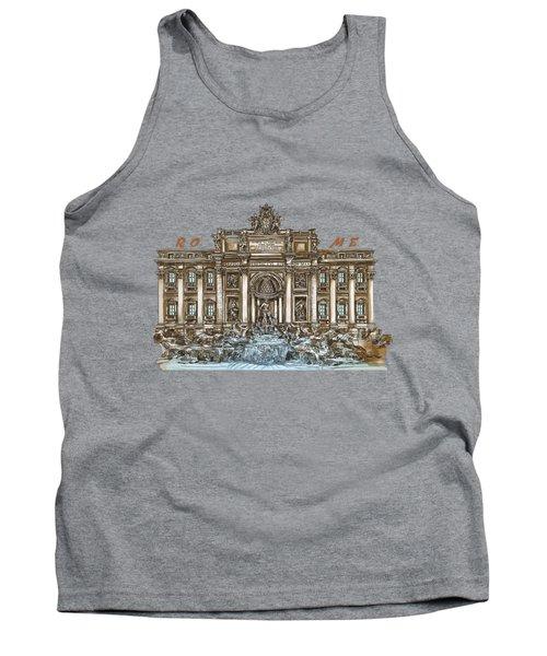 Trevi Fountain,rome  Tank Top
