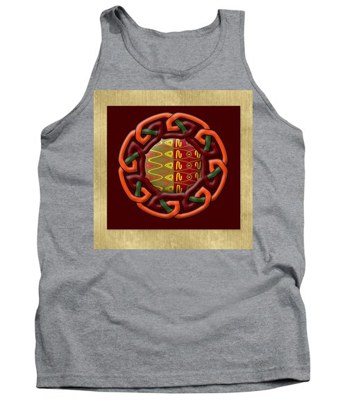 Tank Top featuring the painting Tribal Celt Earthiness by Kandy Hurley