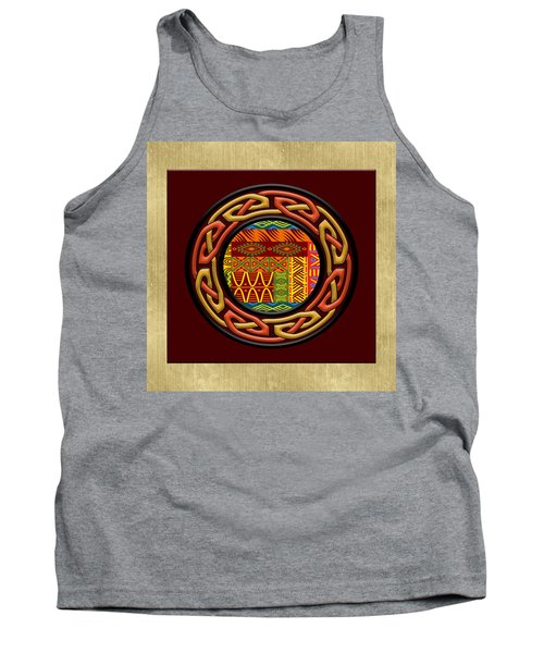 Tank Top featuring the painting Tribal Celt Nsomba by Kandy Hurley