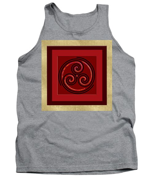 Tank Top featuring the painting Tribal Celt Triple Spiral by Kandy Hurley
