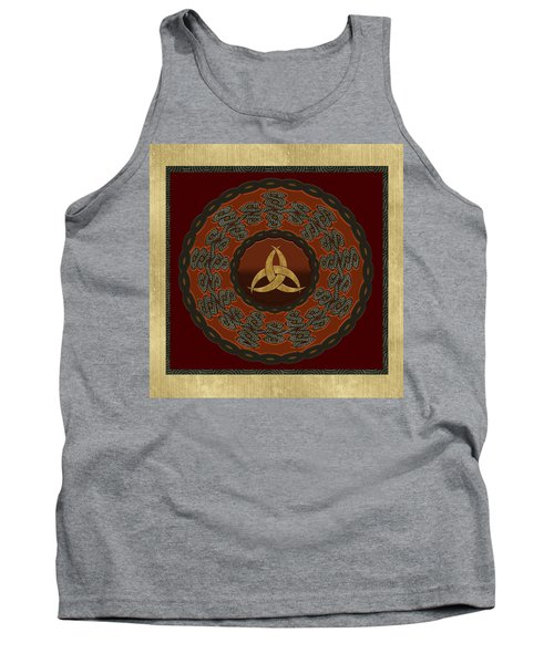 Tank Top featuring the painting Tribal Celt Triquetra Symbol by Kandy Hurley