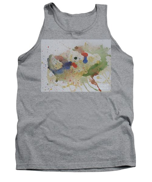 Tank Top featuring the painting Triple Rooster Race by Vicki  Housel
