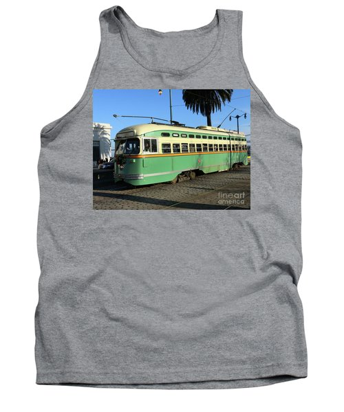 Tank Top featuring the photograph Trolley Number 1058 by Steven Spak